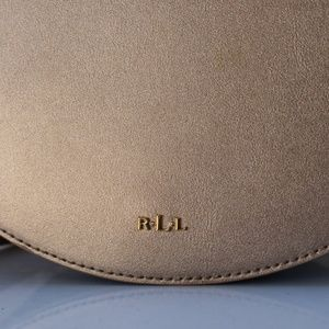 5e7b378944 Lauren Ralph Lauren Bags - Lauren Ralph Caley Mini Saddle Bag Gold Birchwood